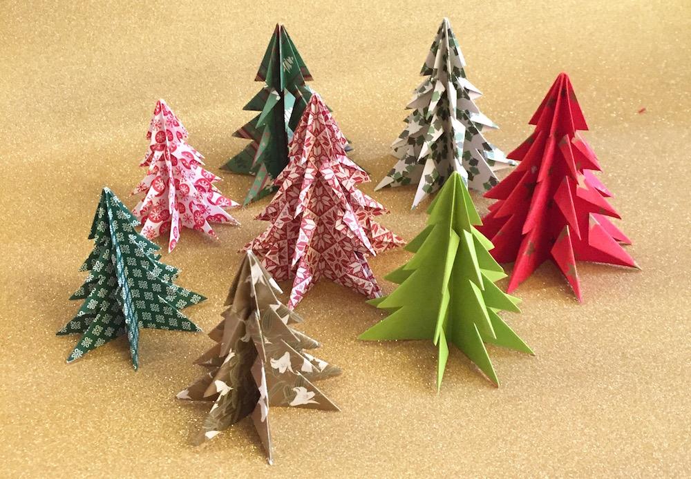 origami addobbi tavole natalizie